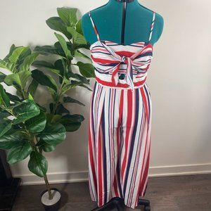 NWT Red, White, Blue Jumpsuit